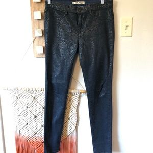 J. Brand Blue Indigo Boa Super Skinny Jeans